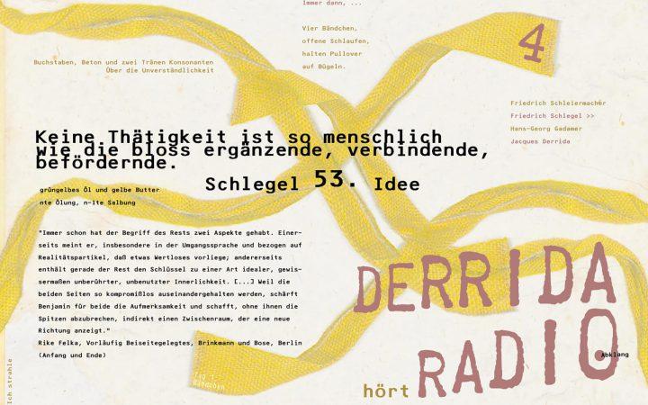 -> Derrida // Hagar schweigt {von den Quellen}